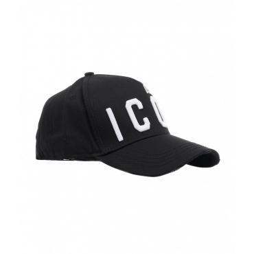 Baseball cap con logo nero