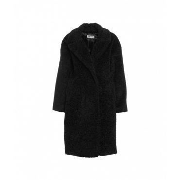 Cappotto in pelliccia eco nero