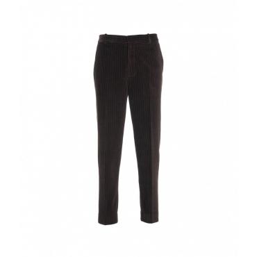 Pantalone in velluto a coste marrone scuro