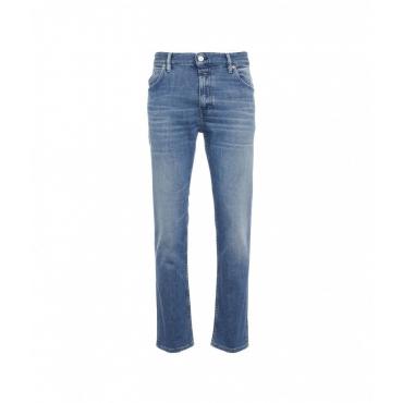Jeans Drop Cropped blu