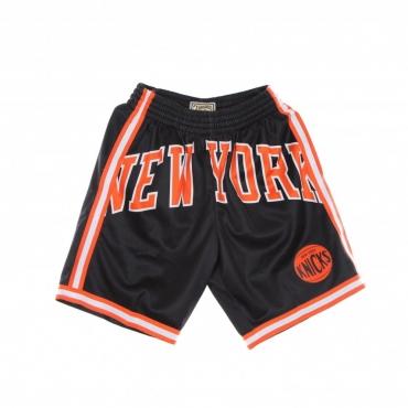 PANTALONCINO TIPO BASKET UOMO NBA BIG FACE BLOWN OUT FASHION SHORT HARDWOOD CLASSICS NEYKNI BLACK/ORIGINAL TEAM COLORS