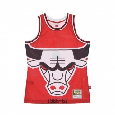 CANOTTA TIPO BASKET UOMO NBA BIG FACE BLOWN OUT FASHION JERSEY HARDWOOD CLASSICS CHIBUL RED/ORIGINAL TEAM COLORS