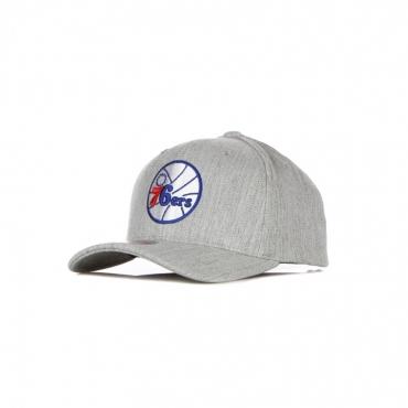 CAPPELLINO VISIERA CURVA UOMO NBA TEAM HEATHER REDLINE SNAPBACK HARDWOOD CLASSICS PHI76E GREY HEATHER