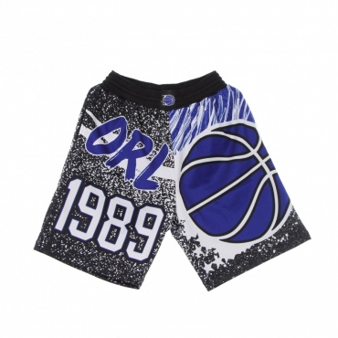 PANTALONCINO TIPO BASKET UOMO NBA JUMBOTRON SUBLIMATED MESH SHORTS HARDWOOD CLASSICS ORLMAG BLACK/ORIGINAL TEAM COLORS