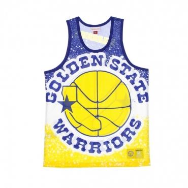 CANOTTA TIPO BASKET UOMO NBA JUMBOTRON SUBLIMATED MESH TANK HARDWOOD CLASSICS GOLWAR YELLOW/ORIGINAL TEAM COLORS