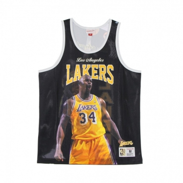 CANOTTA TIPO BASKET UOMO NBA BEHIND THE BACK TANK SHAQUILLE ONEAL HARDWOOD CLASSICS LOSLAK BLACK