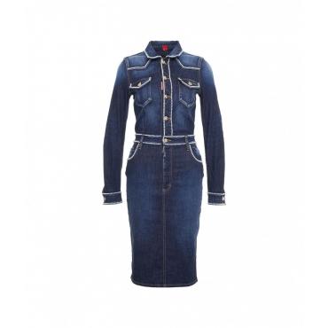 Denim Midi Dress blu