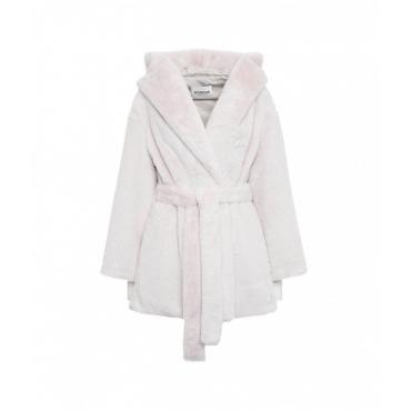 Cappotto in eco-pelliccia rosa chiaro