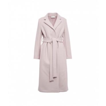 Cappotto in lana vergine rosa