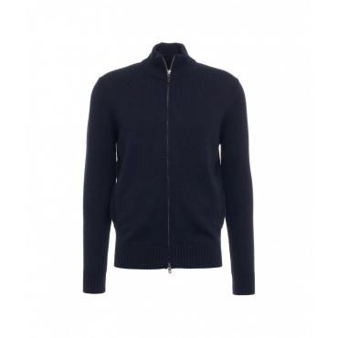 Maglione con zip blu scuro