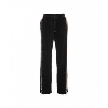 Pantalone in velluto a coste nero
