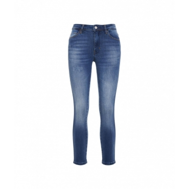 Skinny Jeans Len blu