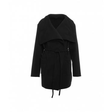 Cappotto di lana vergine Elvy nero