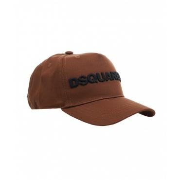 Baseball cap con logo marrone