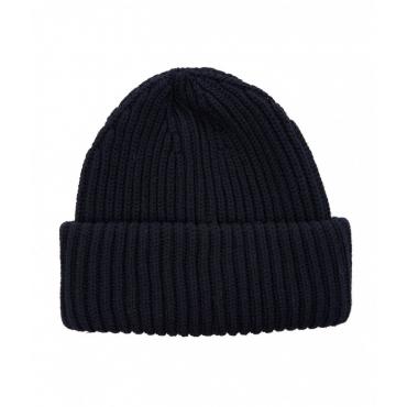 Berretto a maglia con logo blu scuro