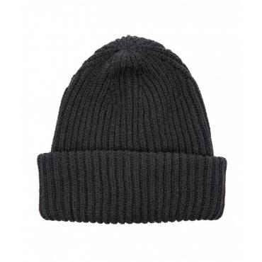 Berretto a maglia con logo grigio scuro