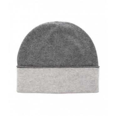 Berretto a maglia con gradiente grigio