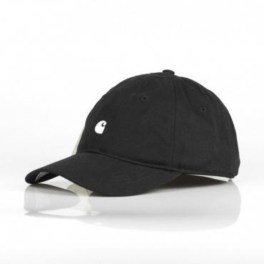 CAPPELLINO VISIERA CURVA UOMO MADISON LOGO CAP BLACK/WHITE