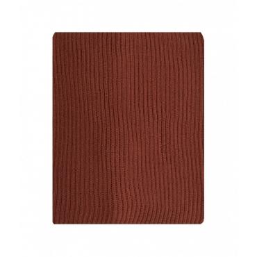 Sciarpa in maglia a coste marrone