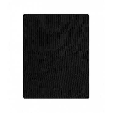 Sciarpa in maglia a coste blu scuro