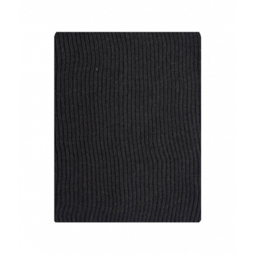 Sciarpa in maglia a coste grigio scuro
