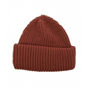 Berretto a maglia con logo marrone
