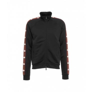 Track zip sweater nero