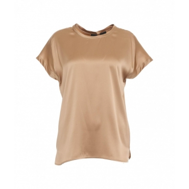 T-shirt di seta bronzo