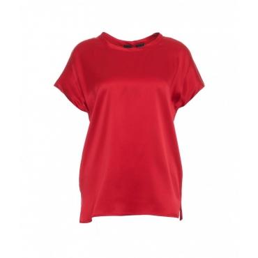 T-shirt di seta rosso