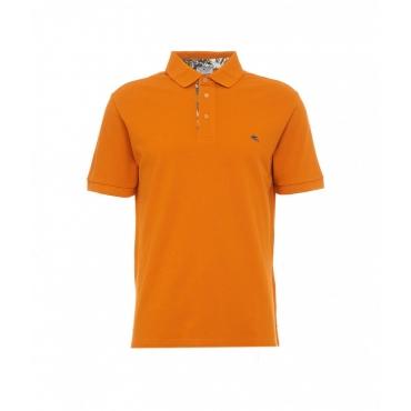 Polo con ricamo Pegaso arancione