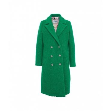 Cappotto in boucl verde chiaro