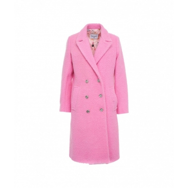 Cappotto in boucl pink