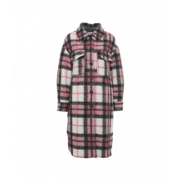 Camicia oversize con motivo a quadri pink
