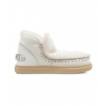 Boots Eskimo Sneaker con strass crema