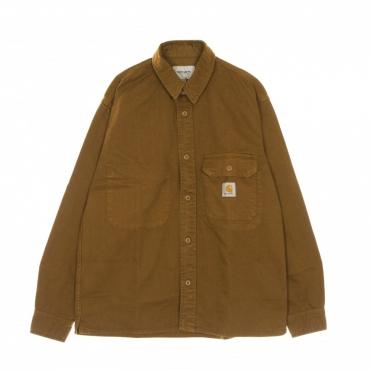 camicia manica lunga uomo reno shirt jacket TAWNY GARMENT DYED