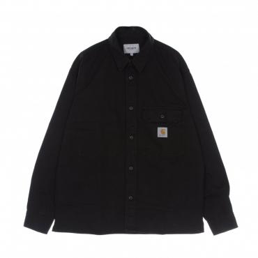 camicia manica lunga uomo reno shirt jacket BLACK