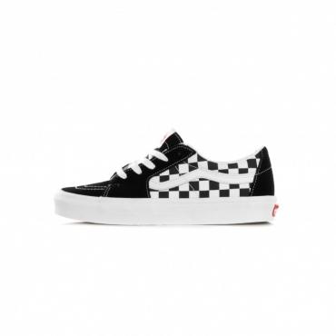 scarpa bassa uomo sk8-low canvas/suede BLACK/CHECKERBOARD