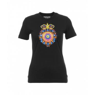 T-shirt con stampa del logo nero