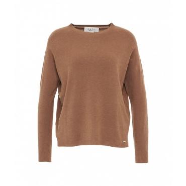 Maglione in maglia leggera marrone