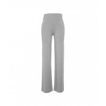 Pantalone in maglia grigio chiaro