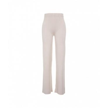 Pantalone in maglia rosa chiaro
