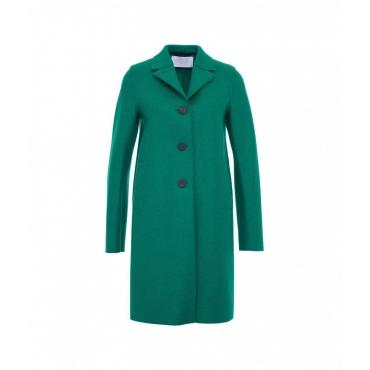 Cappotto in lana pressata verde