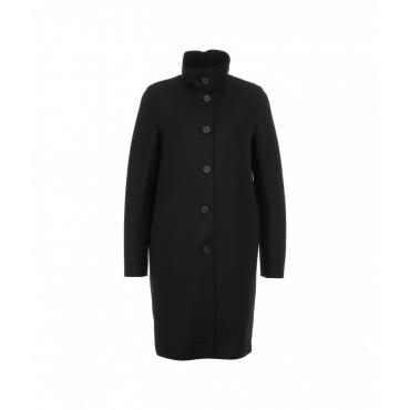 Cappotto in lana pressata nero
