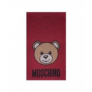 Sciarpa con orsacchiotto rosso