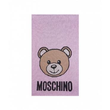 Sciarpa con orsacchiotto rosa