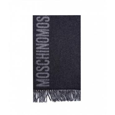 Sciarpa in lana grigio scuro