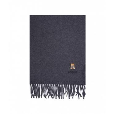 Sciarpa in lana merino grigio scuro