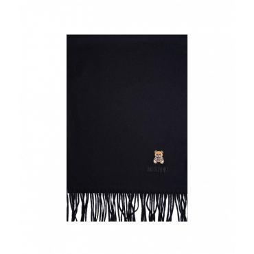 Sciarpa in lana merino nero