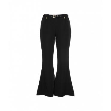 Pantalone in tecnico cady nero