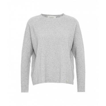Maglione in maglia leggera grigio chiaro